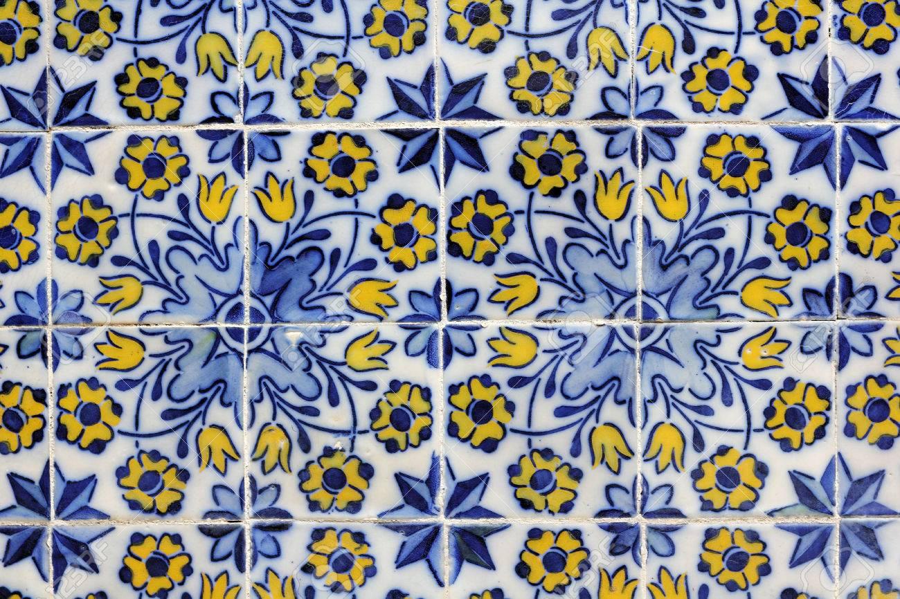 Azulejos baroque painted tin glazed ceramic tile work in funchal azulejos baroque painted tin glazed ceramic tile work in funchal stock photo dailygadgetfo Images