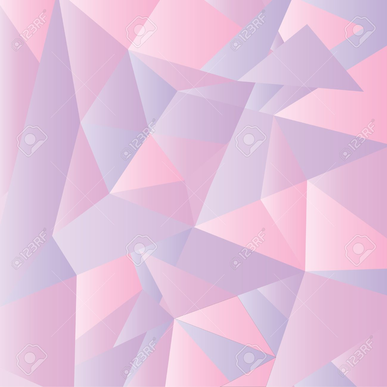 Geometric Wallpaper In Pink Shade