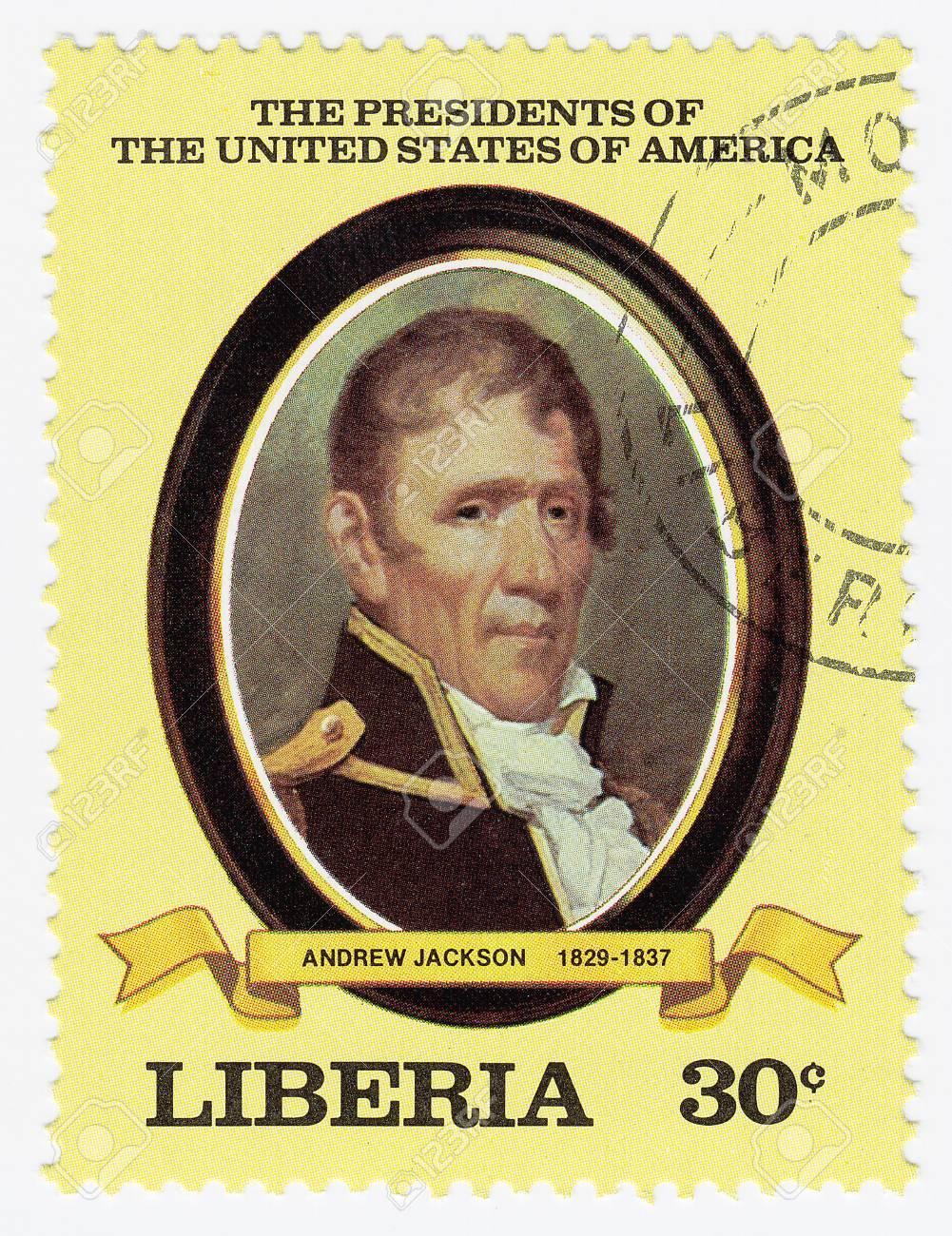 LIBERIA - CIRCA 2000   stamp printed in Liberia shows 7th president of USA Andrew Jackson, circa 2000 Stock Photo - 15768003