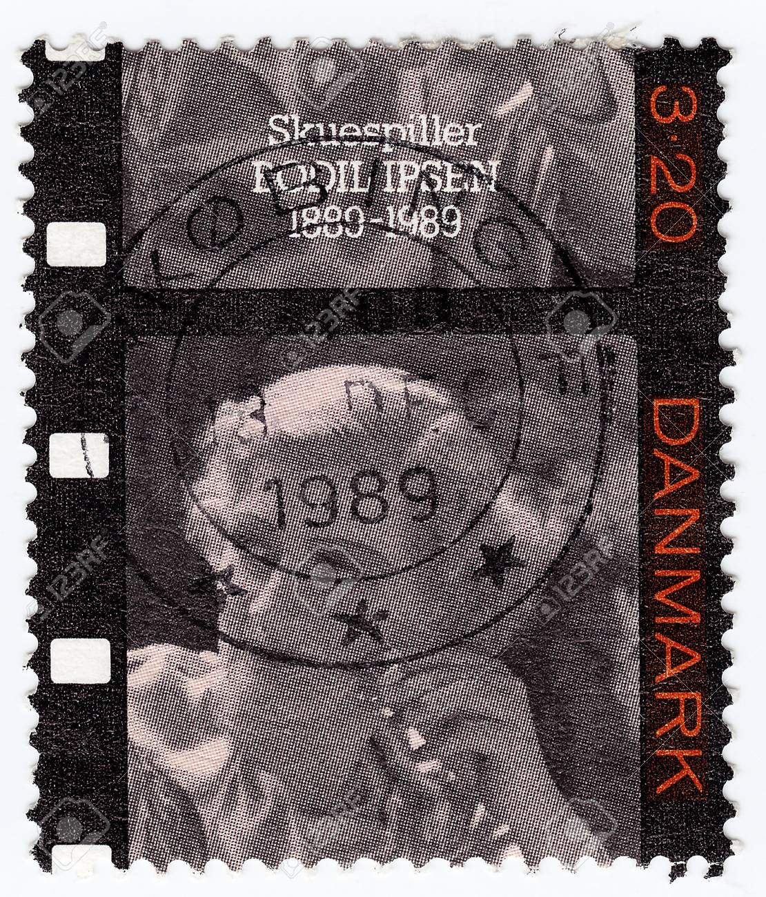 DENMARK - CIRCA 1989 : stamp printed in Denmark shows Bodil Ipsen Danish actress and film director, circa 1989 Stock Photo - 15767976