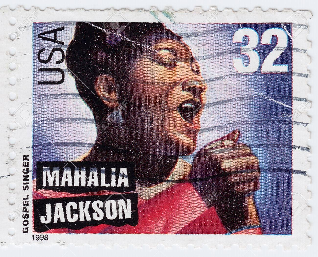 USA - CIRCA 1998 : stamp printed in USA show American gospel singer Mahalia Jackson, circa 1998 Stock Photo - 15792633