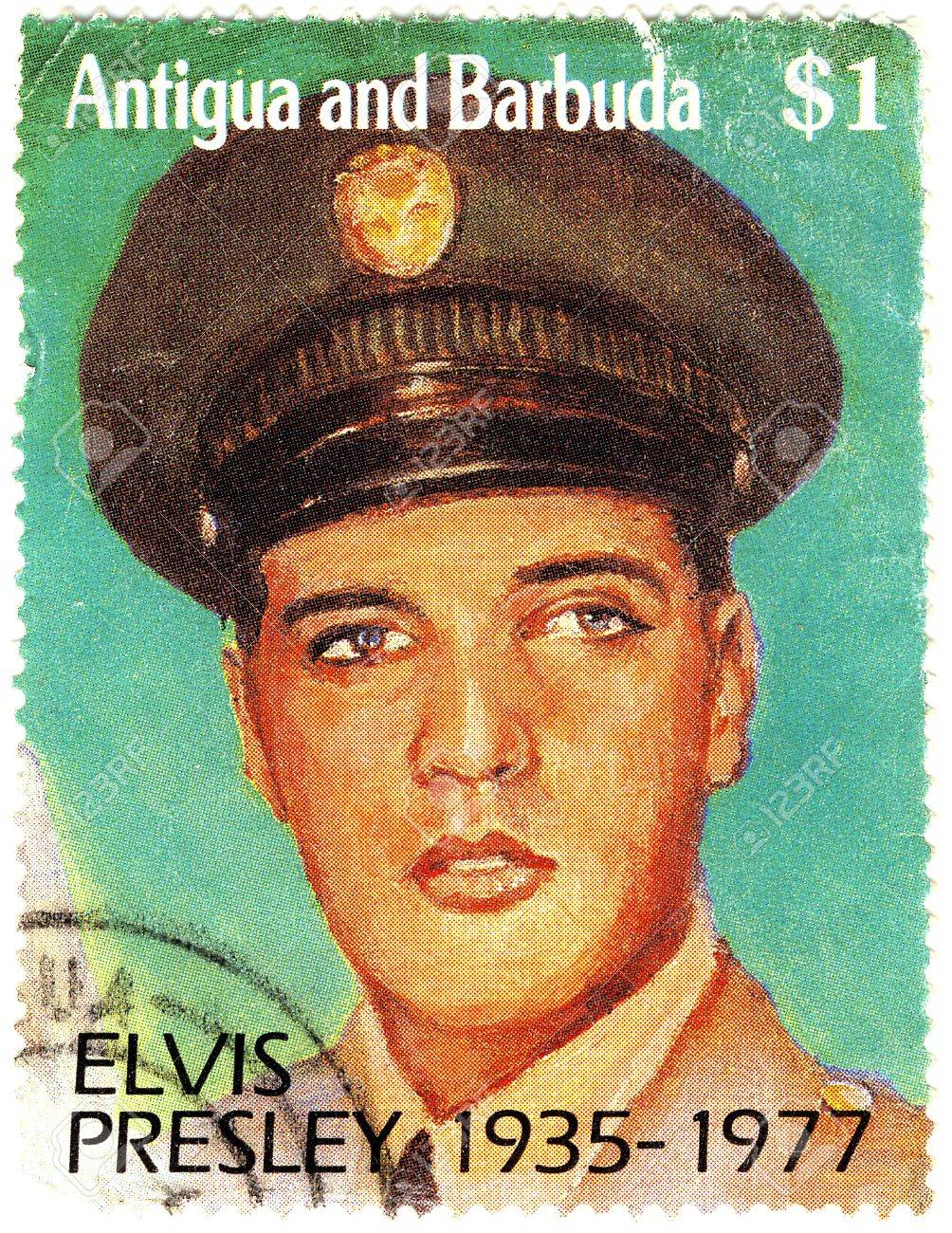stamp with Elvis Presley Stock Photo - 15792630