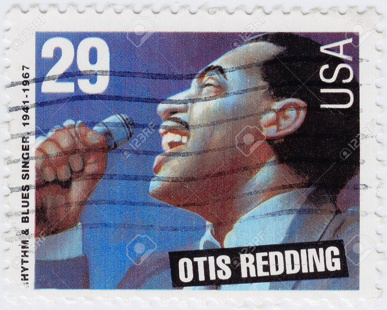 USA - CIRCA 1997 : stamp printed in USA shows Otis  Redding is an Rhythm and Blues singer, circa 1997 Stock Photo - 15837505