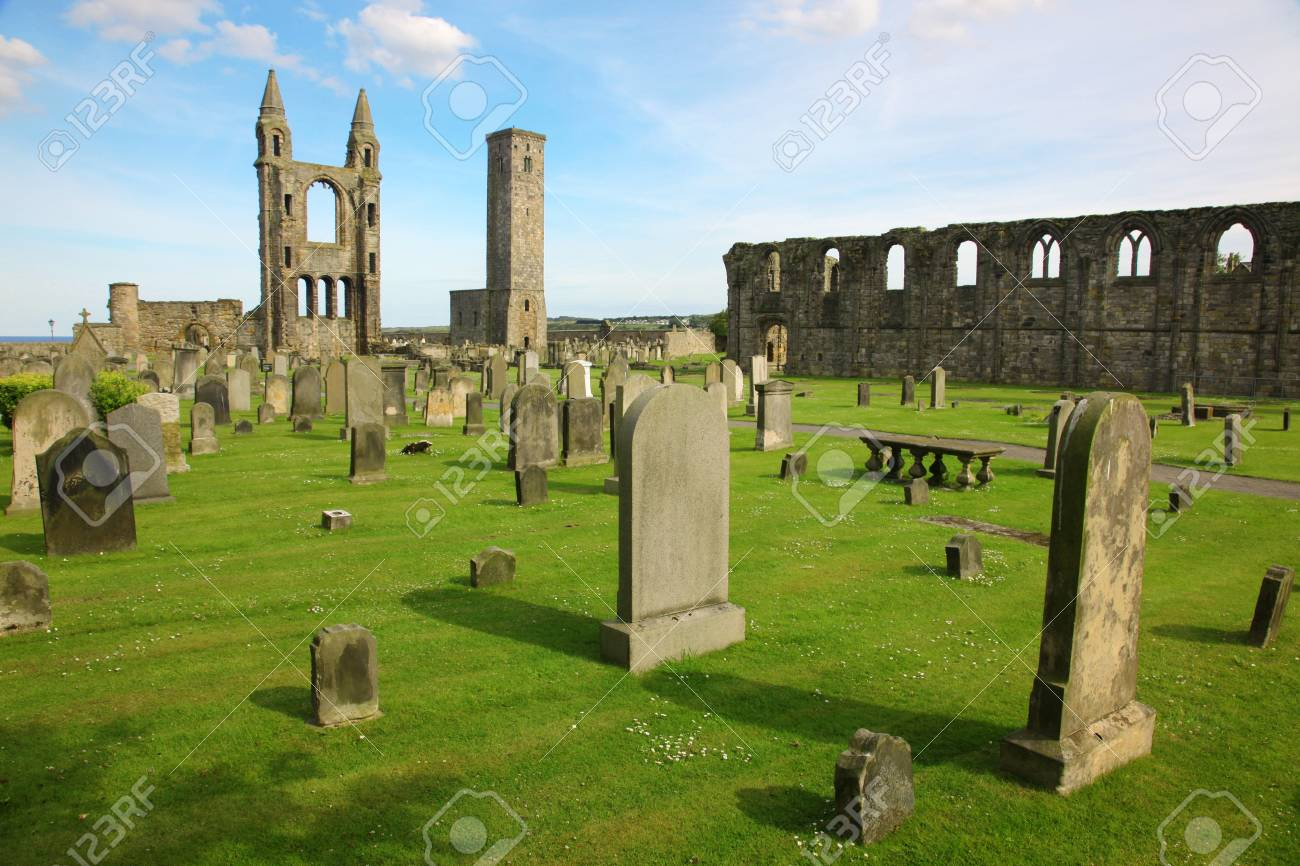 St Andrews cathedral grounds, Scotland, GB Stock Photo - 15856995
