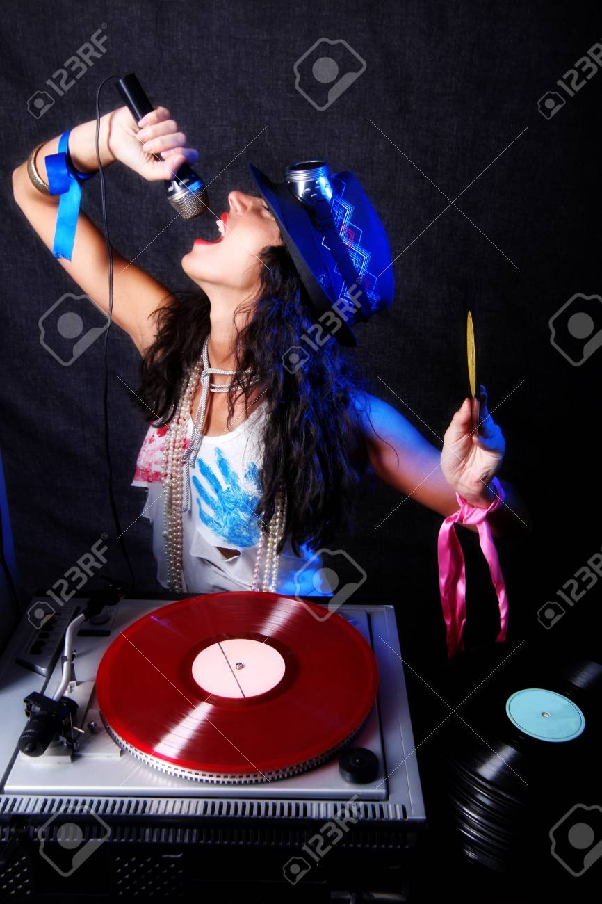 cool  DJ in action Stock Photo - 15859614
