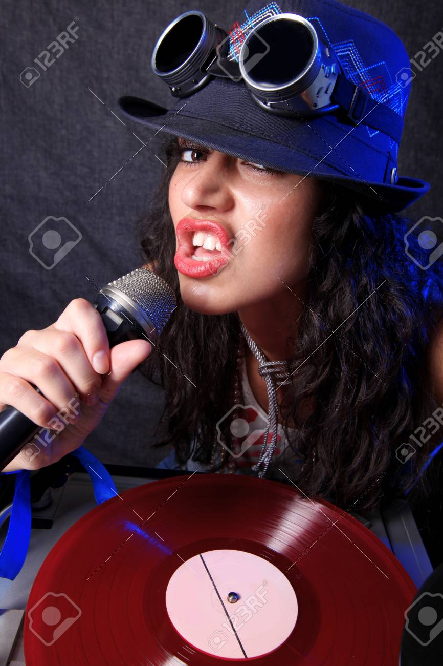 cool DJ in action Stock Photo - 15859726