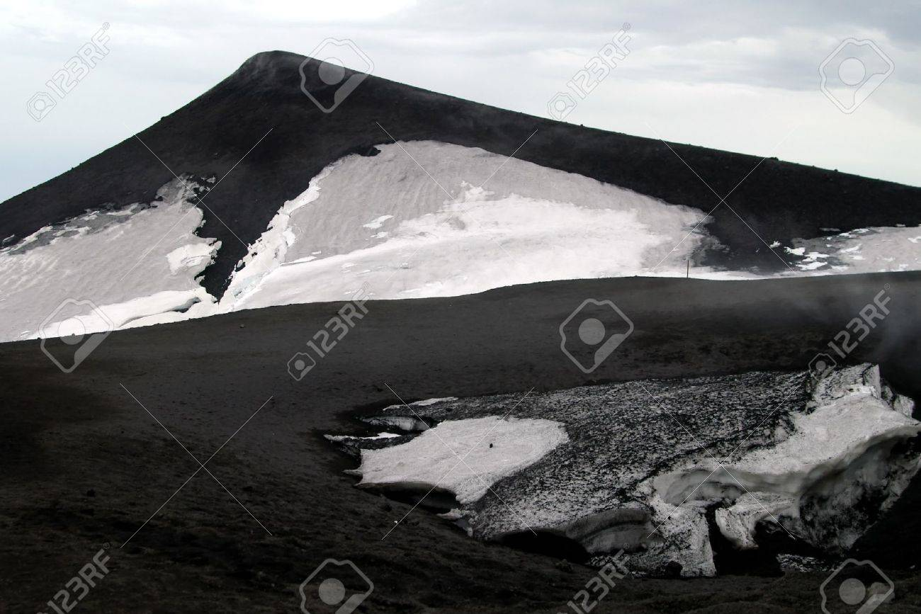 Mount Etna On Sicily Italy Eruption Of 3 May 2007 Stock Photo