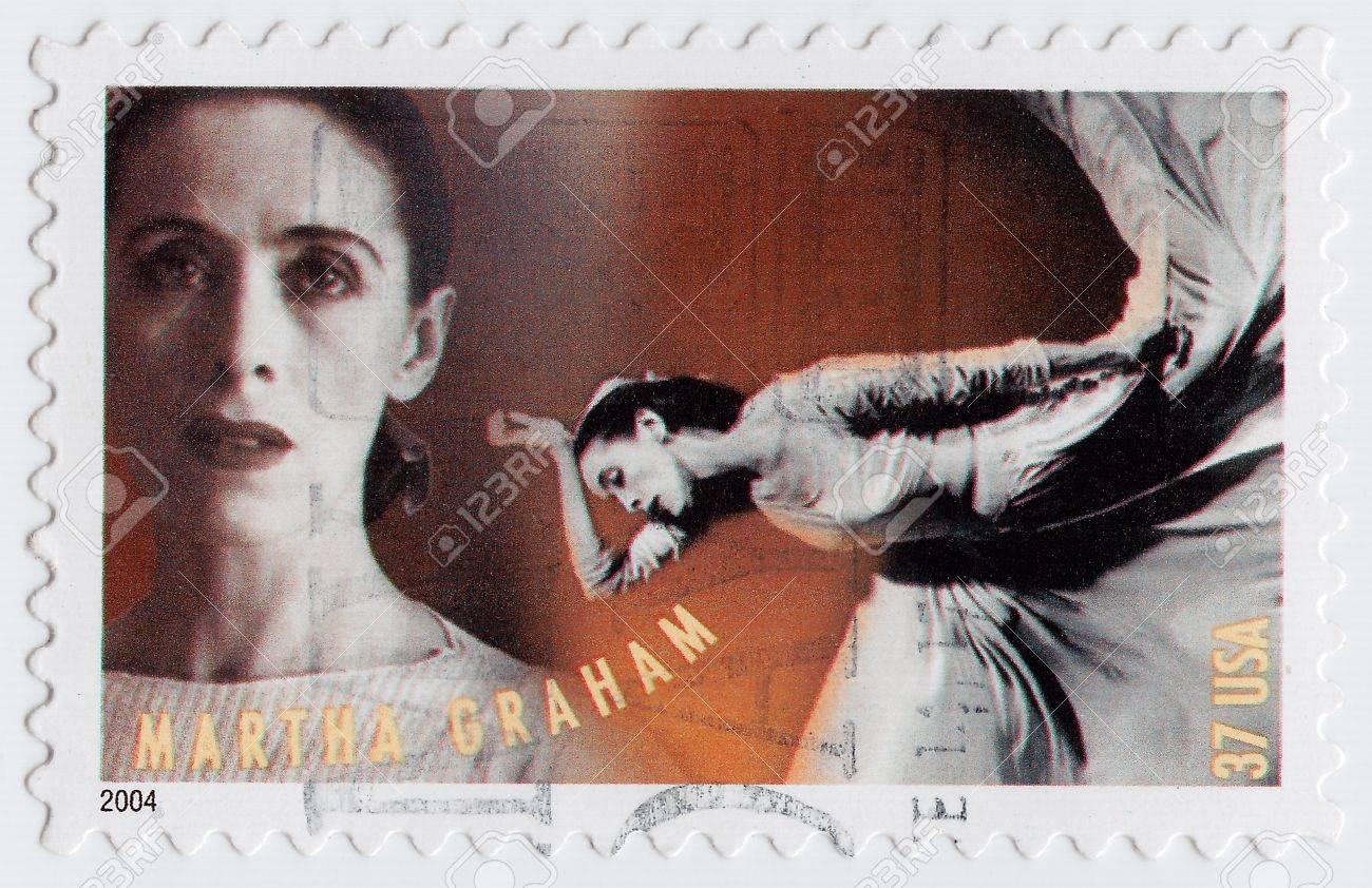 USA - CIRCA 2004 : stamp printed in USA shows Martha Graham was an American dancer choreographer, circa 2004 Stock Photo - 16232856