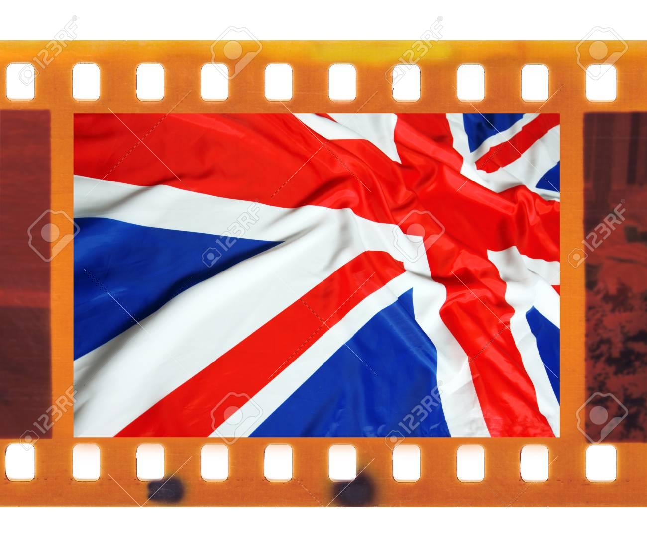 Cosecha Vieja Película De 35mm Marco De Fotos Con El Reino Unido ...