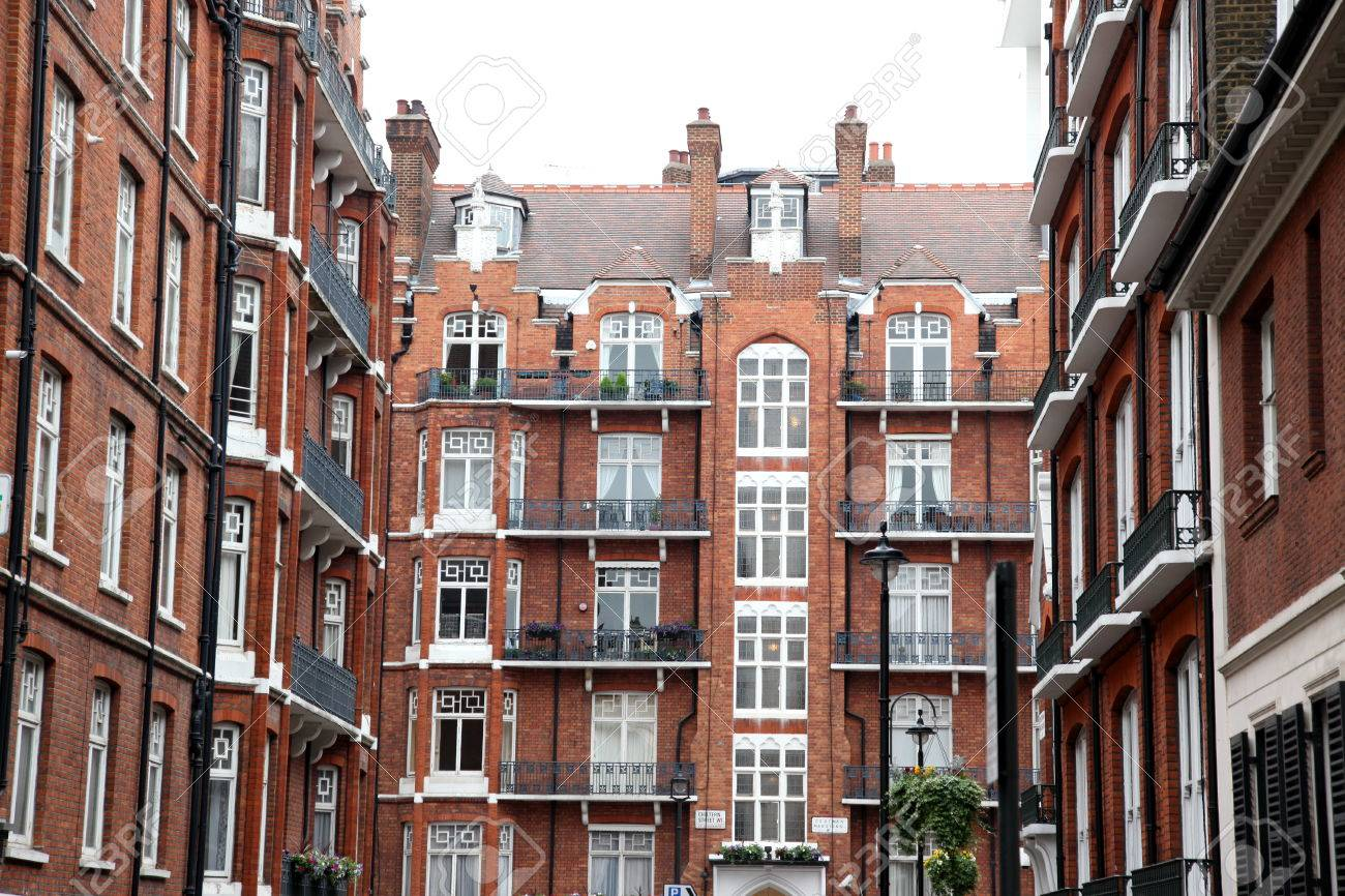Classic Victorian House In London Baker Street UK Stock Photo