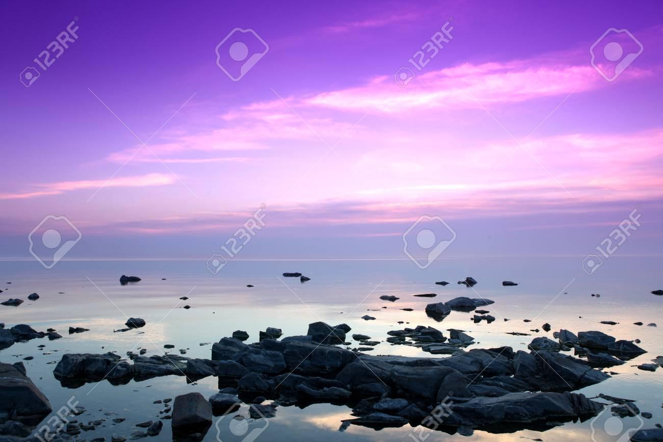 Rock coast, Lake Baikal, Russia - 85754154
