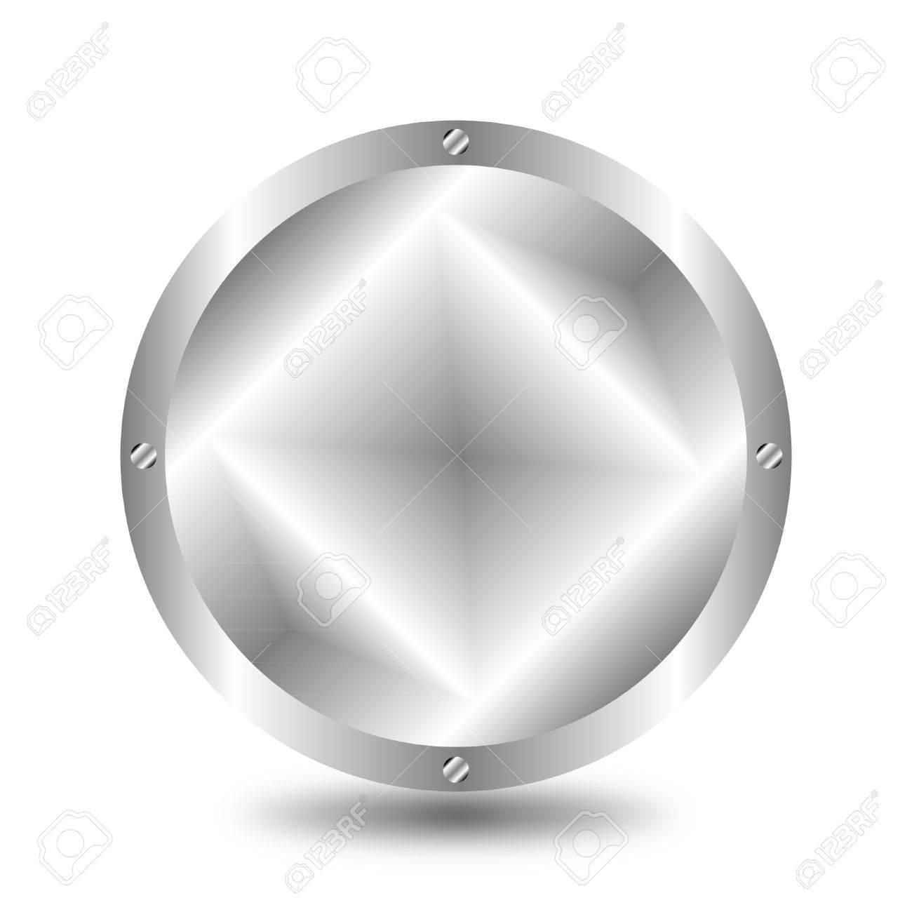 A large, metallic  button Stock Vector - 9917231