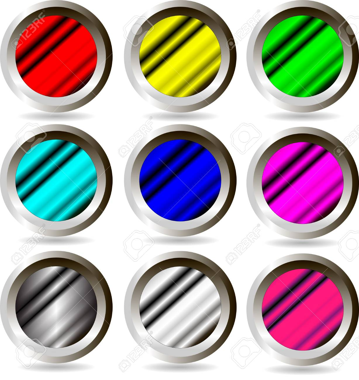 The set of web buttons Stock Vector - 9917276