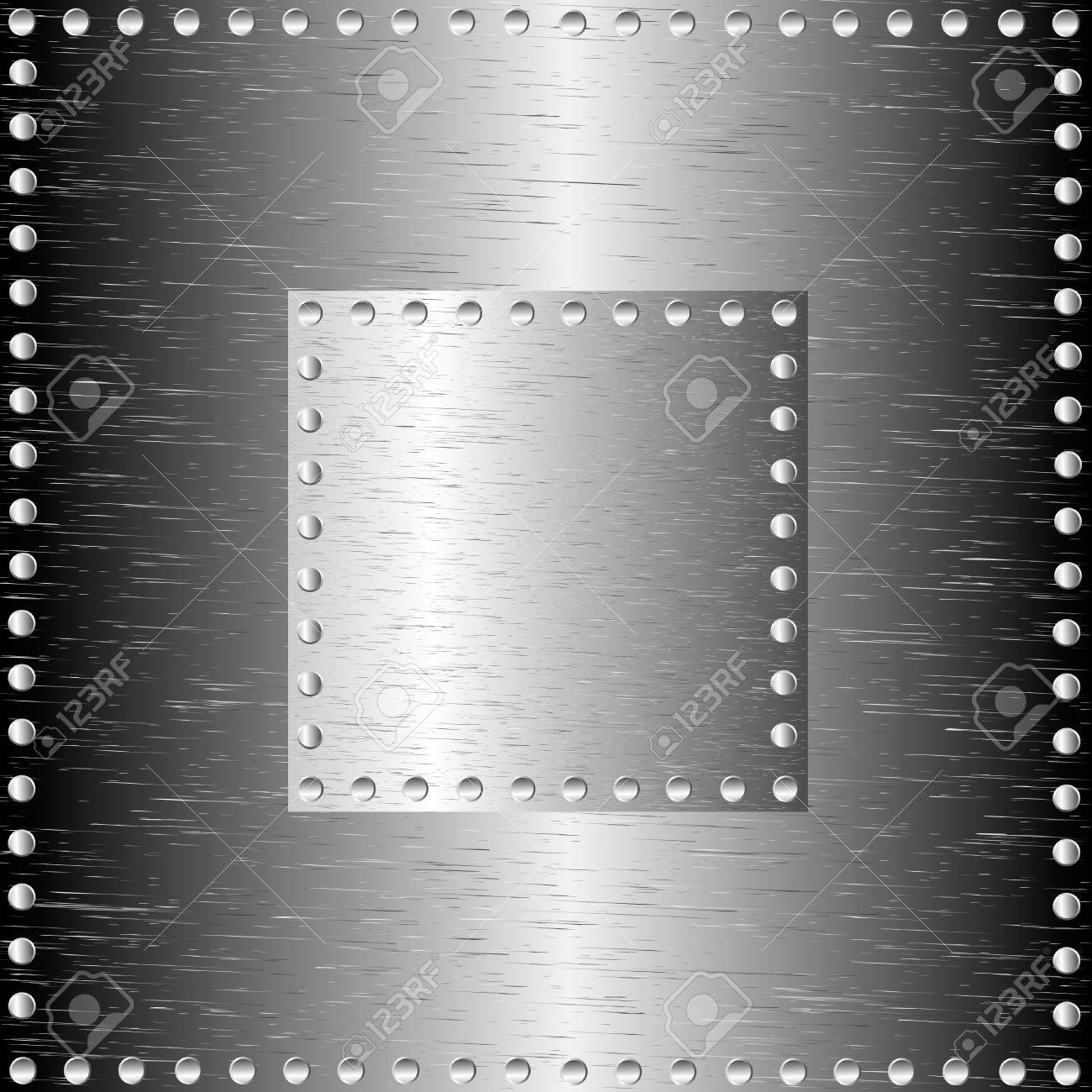 A metal background with rivets Stock Vector - 9935539