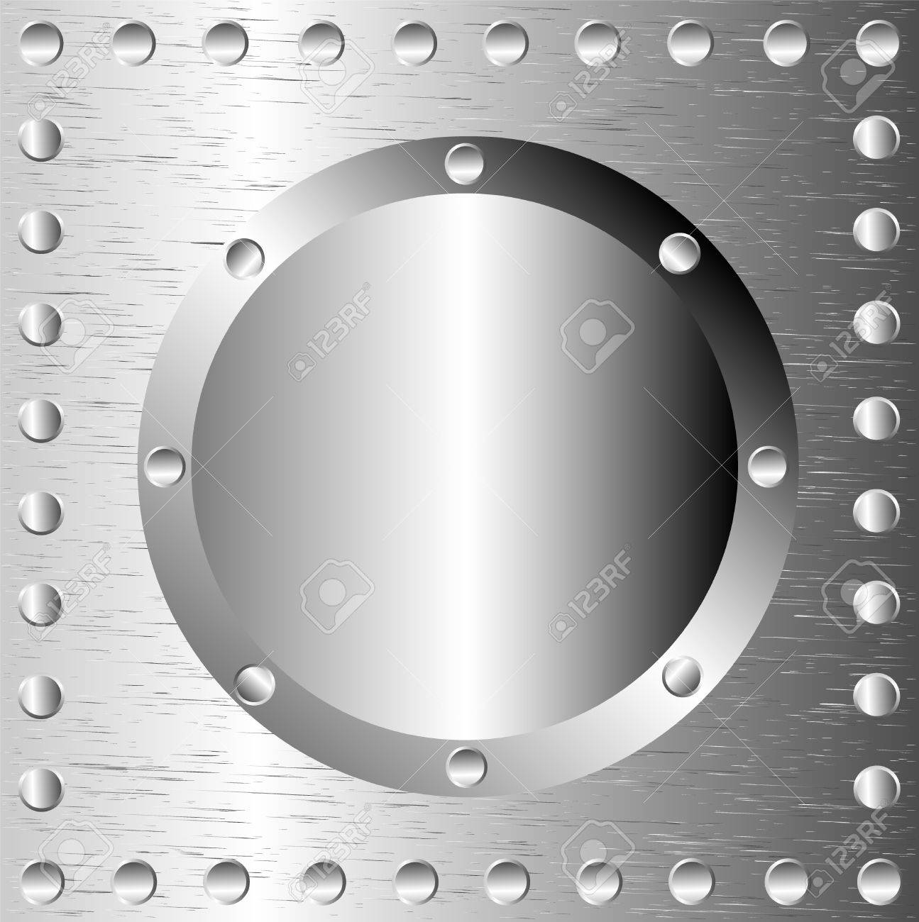 A metal background with rivets Stock Vector - 9935536