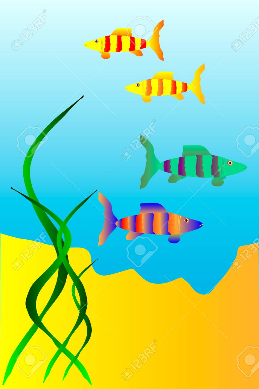 The underwater world of  fish - vector Stock Vector - 10034393