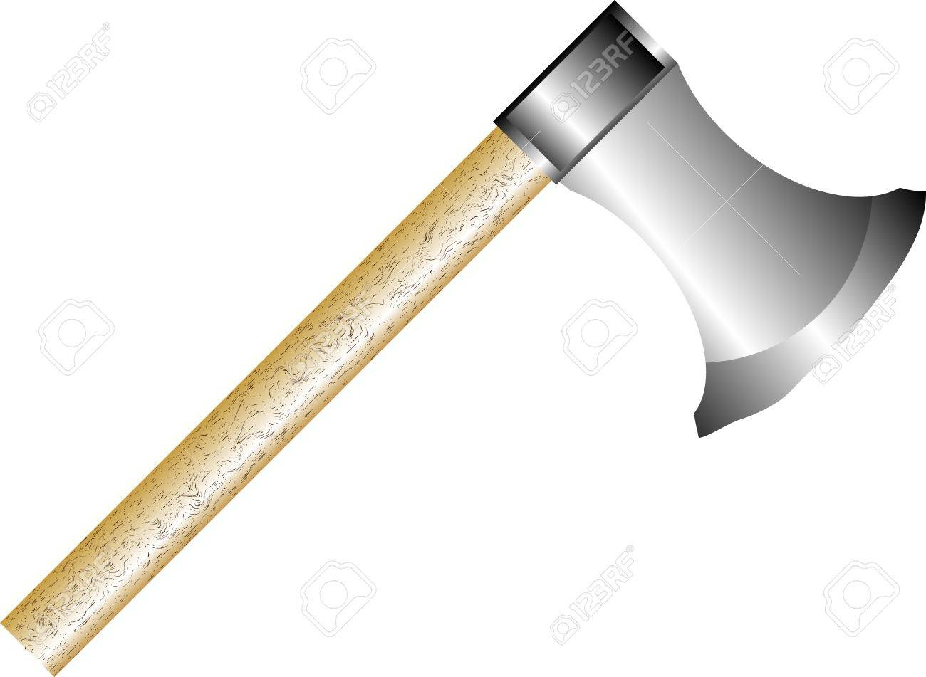 Ax isolated on white background - vector Stock Vector - 10228775