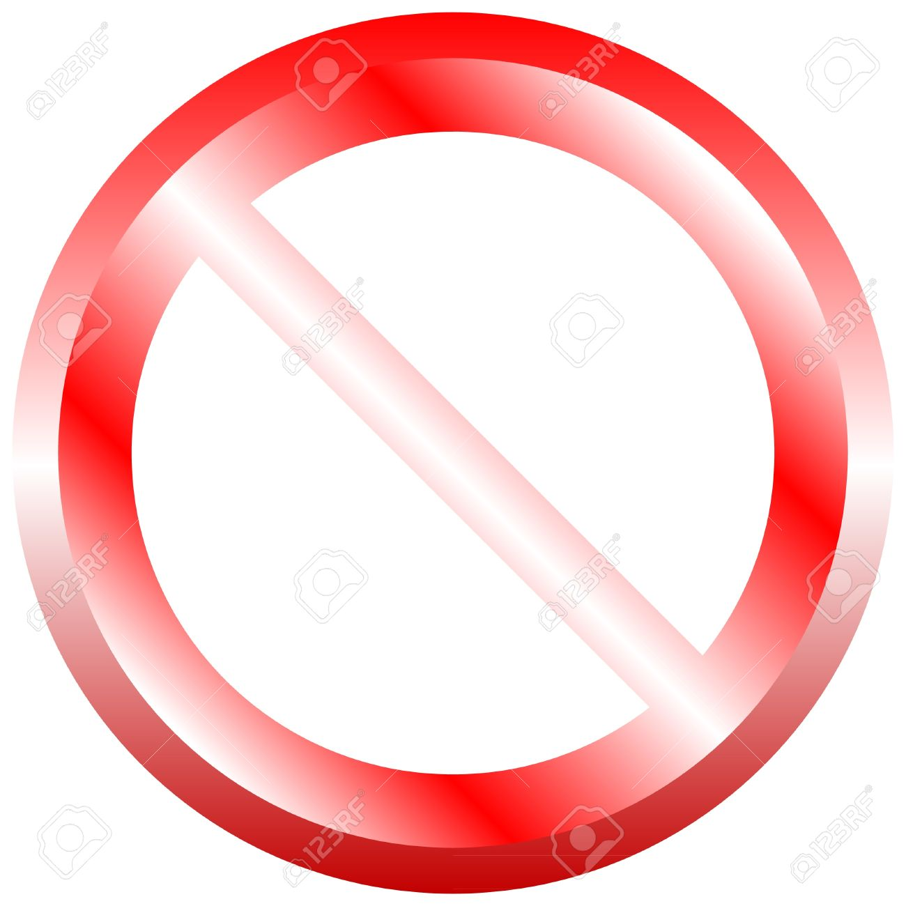 Illustration of prohibited sign on isolated white background Stock Vector - 10275482