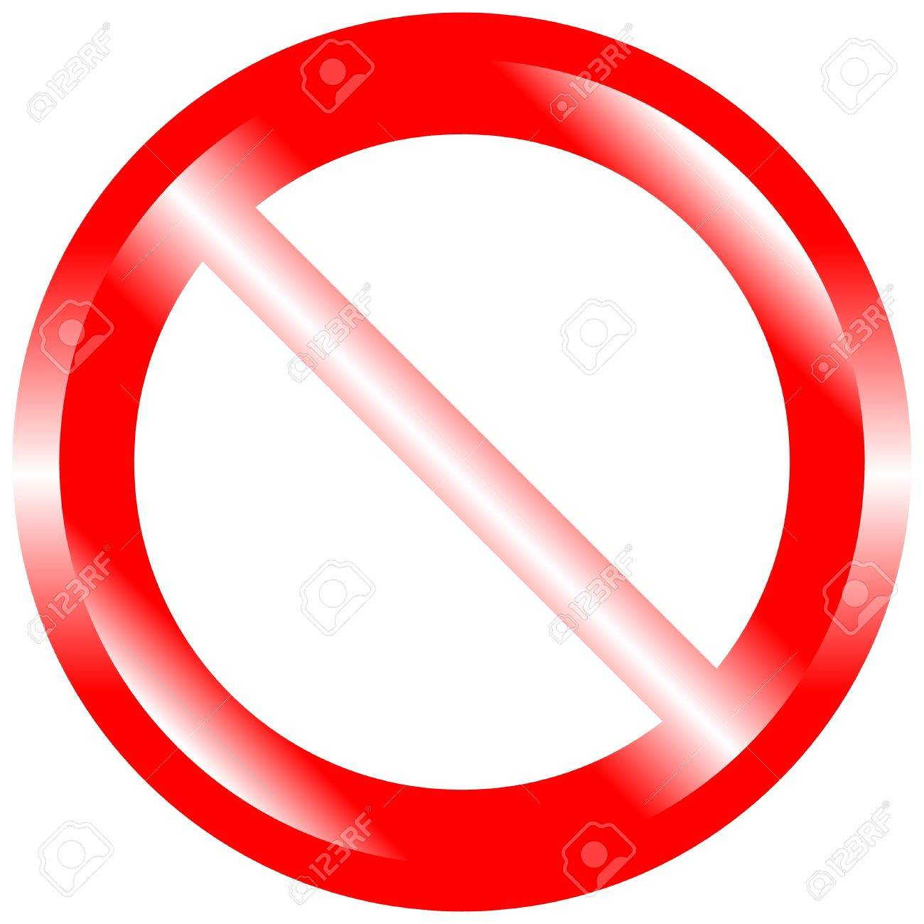 Illustration of prohibited sign on isolated white background Stock Vector - 10275484