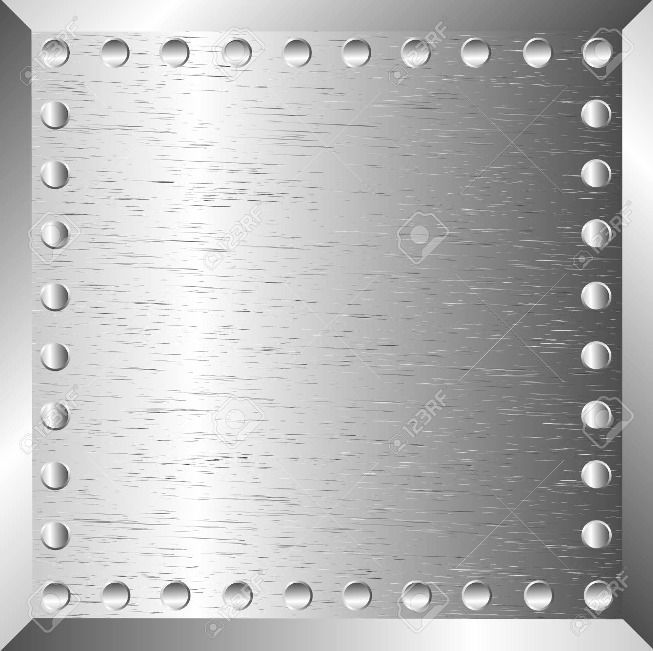 A metal background with rivets Stock Vector - 10313306