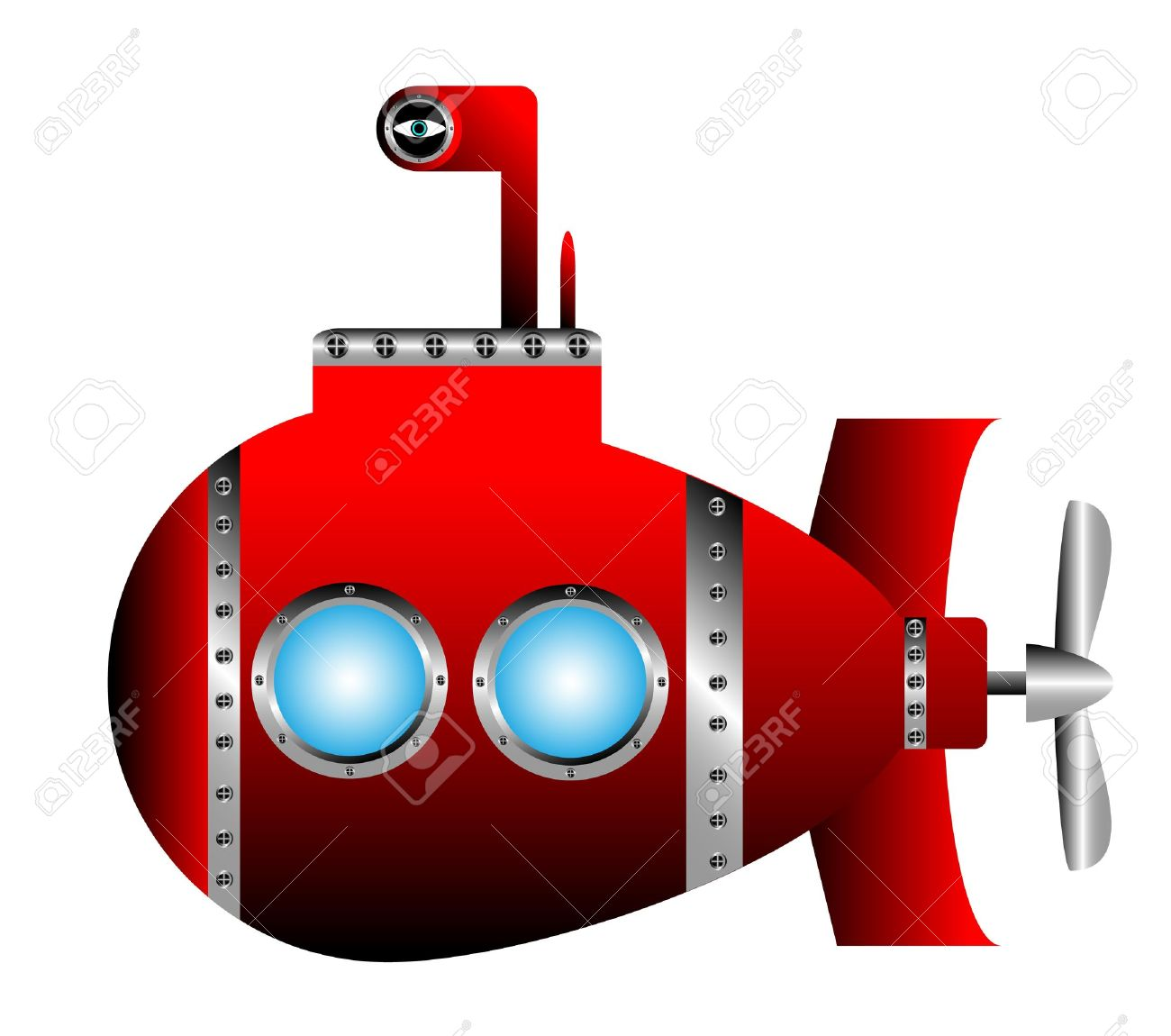 Jeu Alacon - Page 20 10946117-red-submarine-on-white-background--vector-illustration