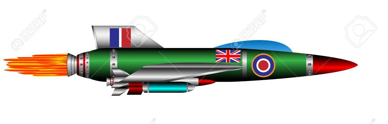 British jet-fighter isolated on white background Stock Vector - 10991149