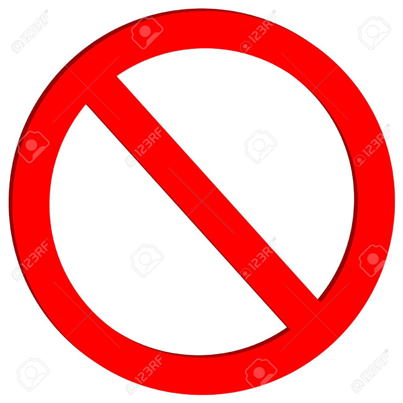 Not allowed sign on white background - vector - 11236973