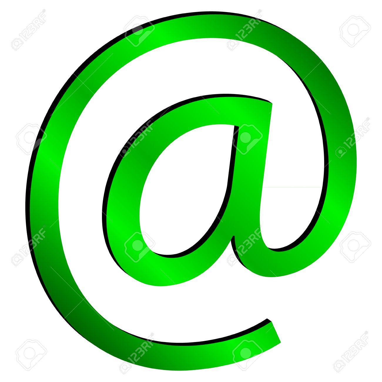 Groen E-mail Geà ¯ Soleerd Op Witte Achtergrond - Vector Royalty ...