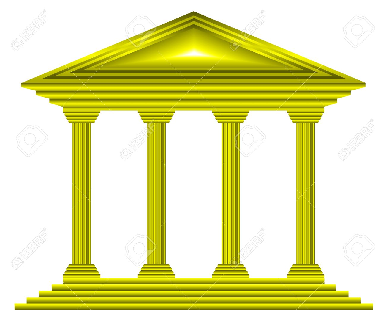 Gold bank icon on white background - vector Stock Vector - 11237023