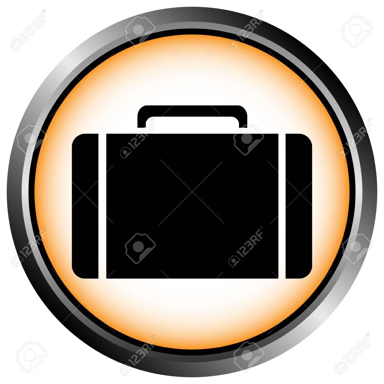 Button with a portfolio on white background Stock Vector - 11471539