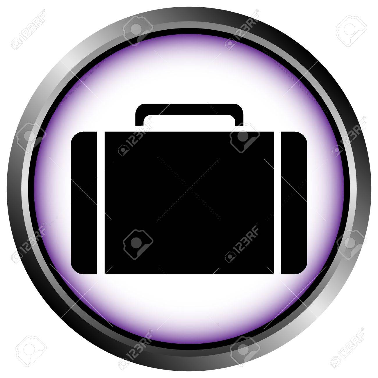 Button with a portfolio on white background Stock Vector - 11471536