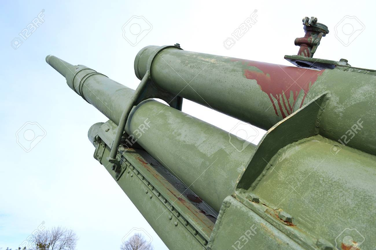 Old antiaircraft gun of the Second World War in Kotka, Finland. Stock Photo - 18811301