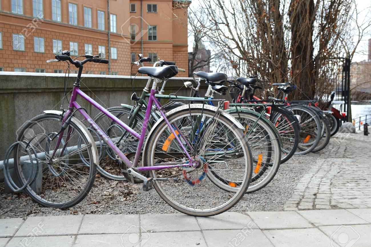 Classic Vintage Retro Stadtfahrrad In Stockholm, Schweden ...