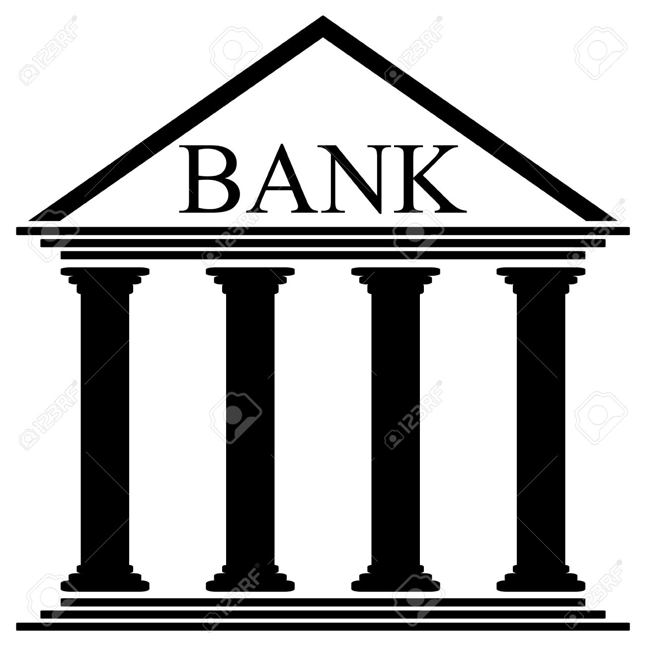 bank icon on white background vector illustration royalty free rh 123rf com banking clip art images banking clip art images