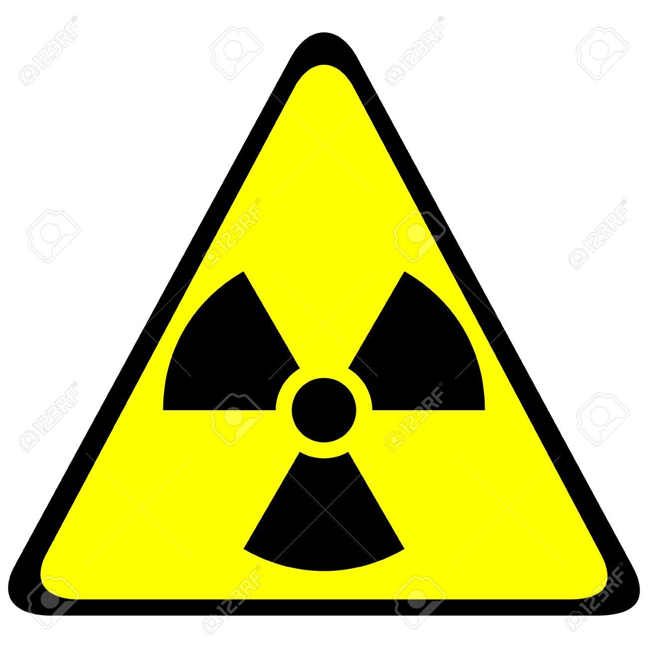 Radiation triangular sign - vector illustration. Stock Vector - 24442079