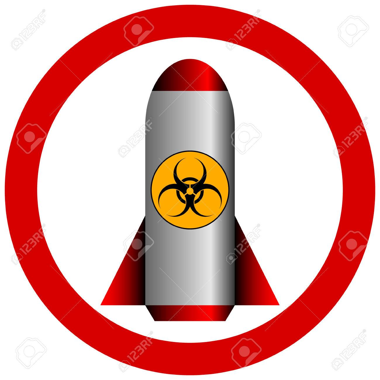 No biohazard rocket on white background - vector illustration. Stock Vector - 24601756