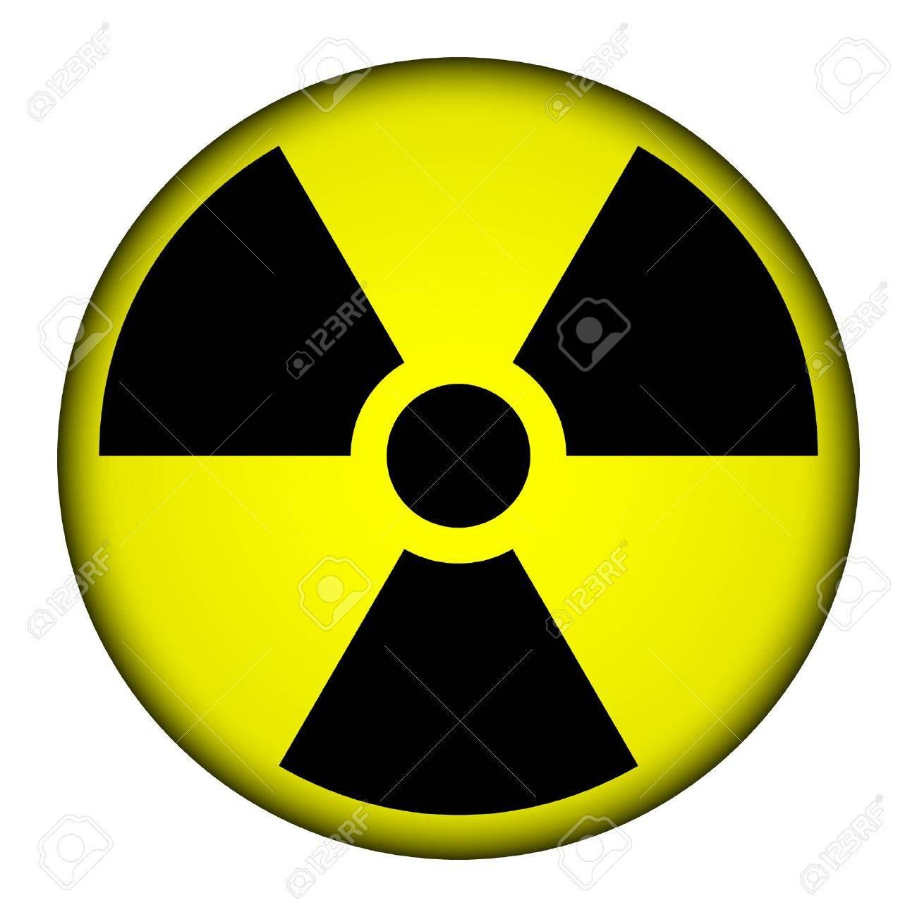 Radiation round button illustration. Stock Vector - 26708302