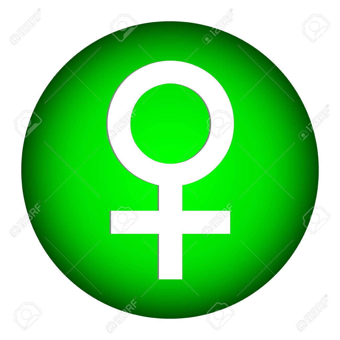 Gender Female Symbol Button On White Background Royalty Free