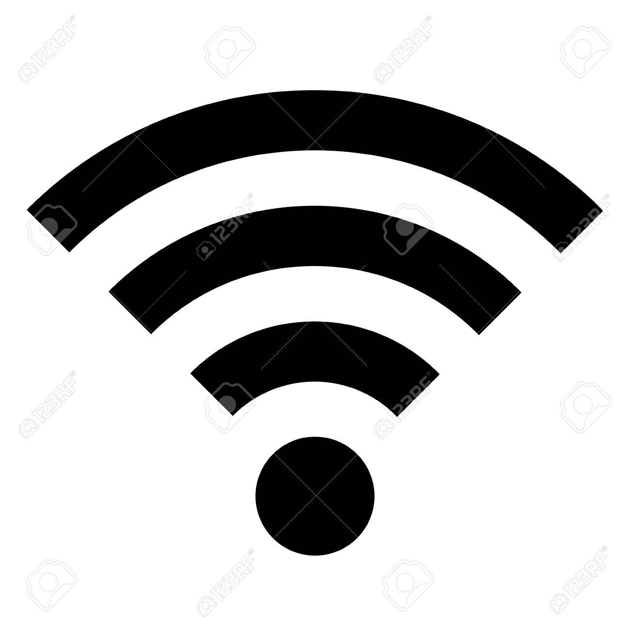 wifi icon on white background vector illustration royalty free rh 123rf com wifi icon vector white wifi icon vector white