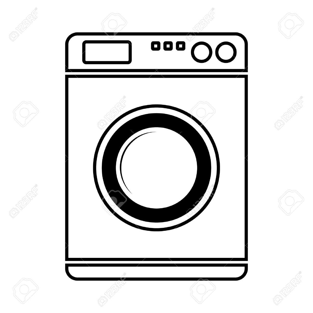 Waschmaschine clipart  Waschmaschine Symbol Auf Weißem Hintergrund. Lizenzfrei Nutzbare ...