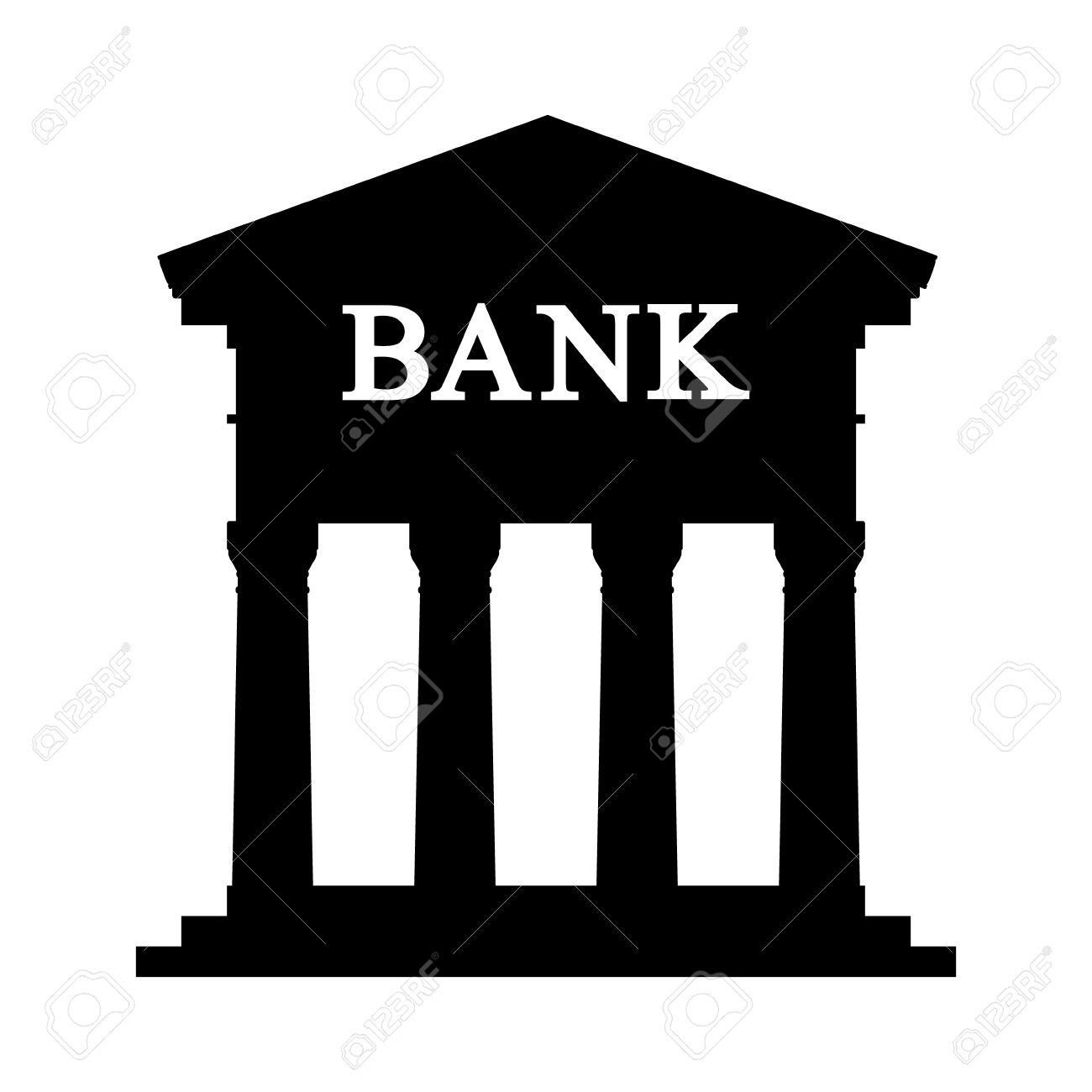 bank icon on white background vector illustration royalty free rh 123rf com vector banksy vector bank cfo