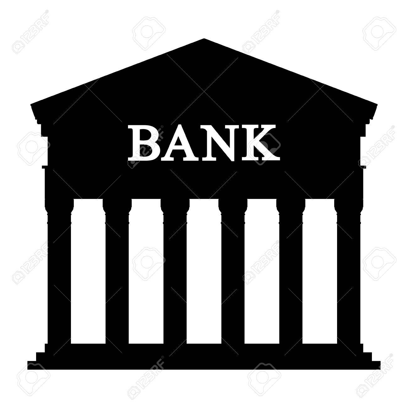 bank icon on white background vector illustration royalty free rh 123rf com vector background vector backpack
