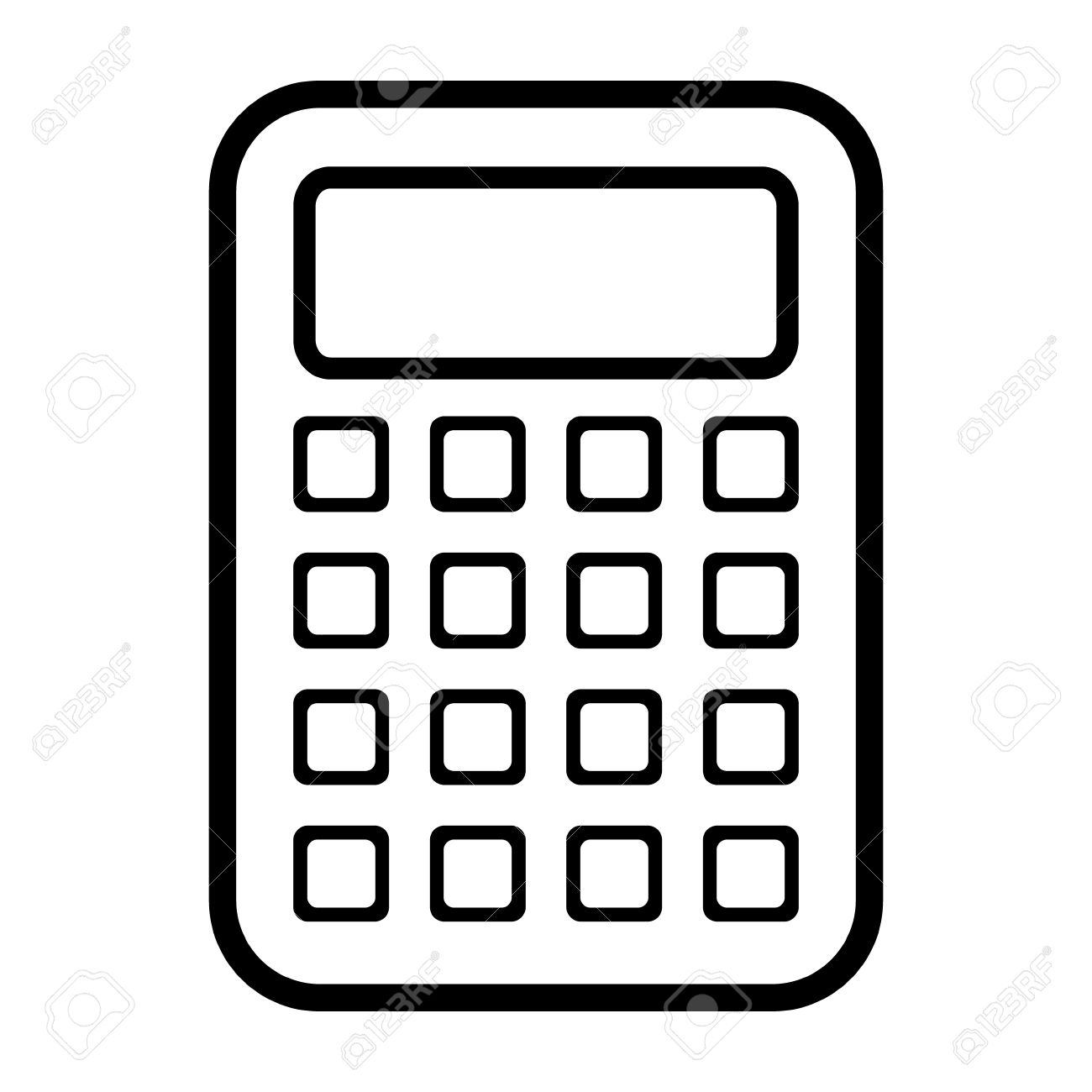 calculator icon on white background royalty free cliparts vectors