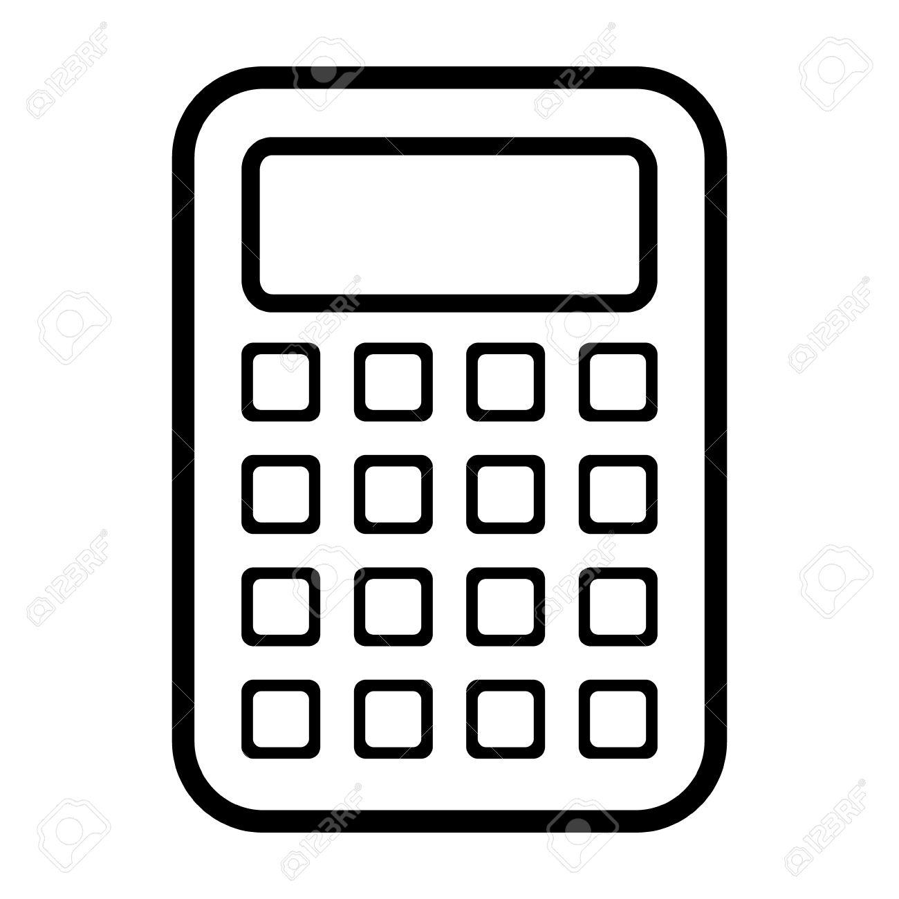 Taschenrechner Symbol Auf Weißem Hintergrund Lizenzfrei Nutzbare