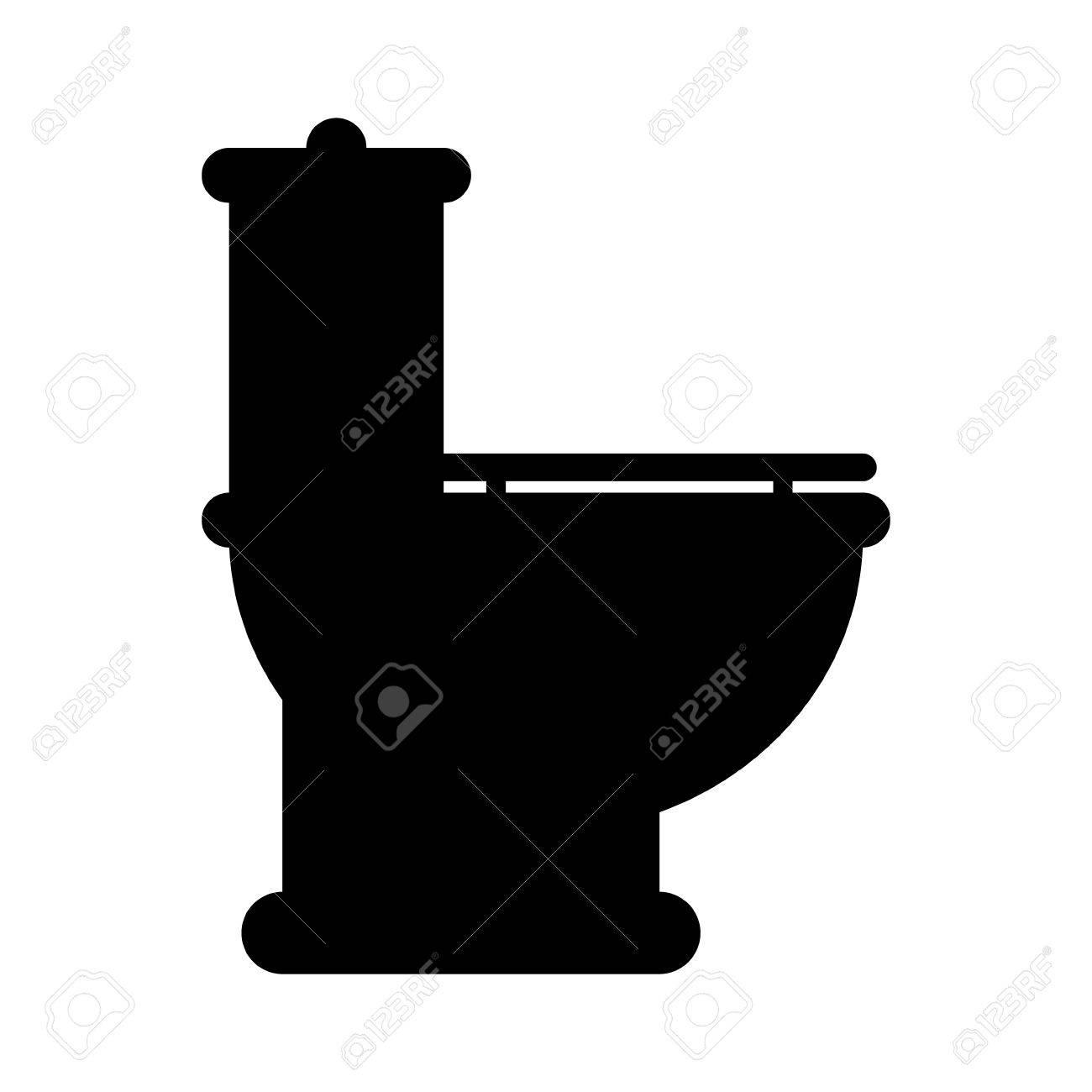 Toilet icon on white background  Stock Vector   28385957. Toilet Icon On White Background  Royalty Free Cliparts  Vectors