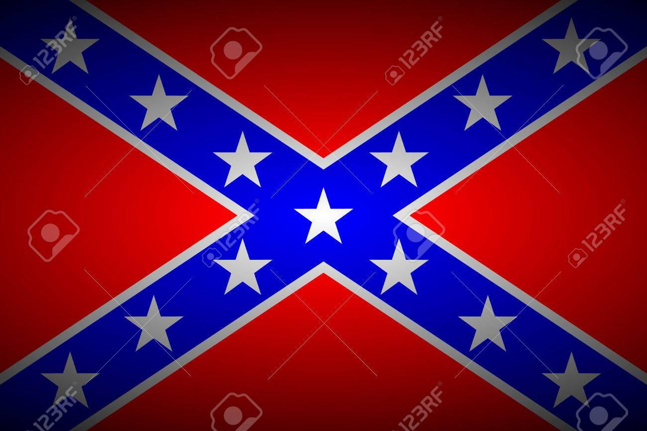 ベクトル イラスト - アメリカ連合国の国旗。のイラスト素材・ベクタ ...