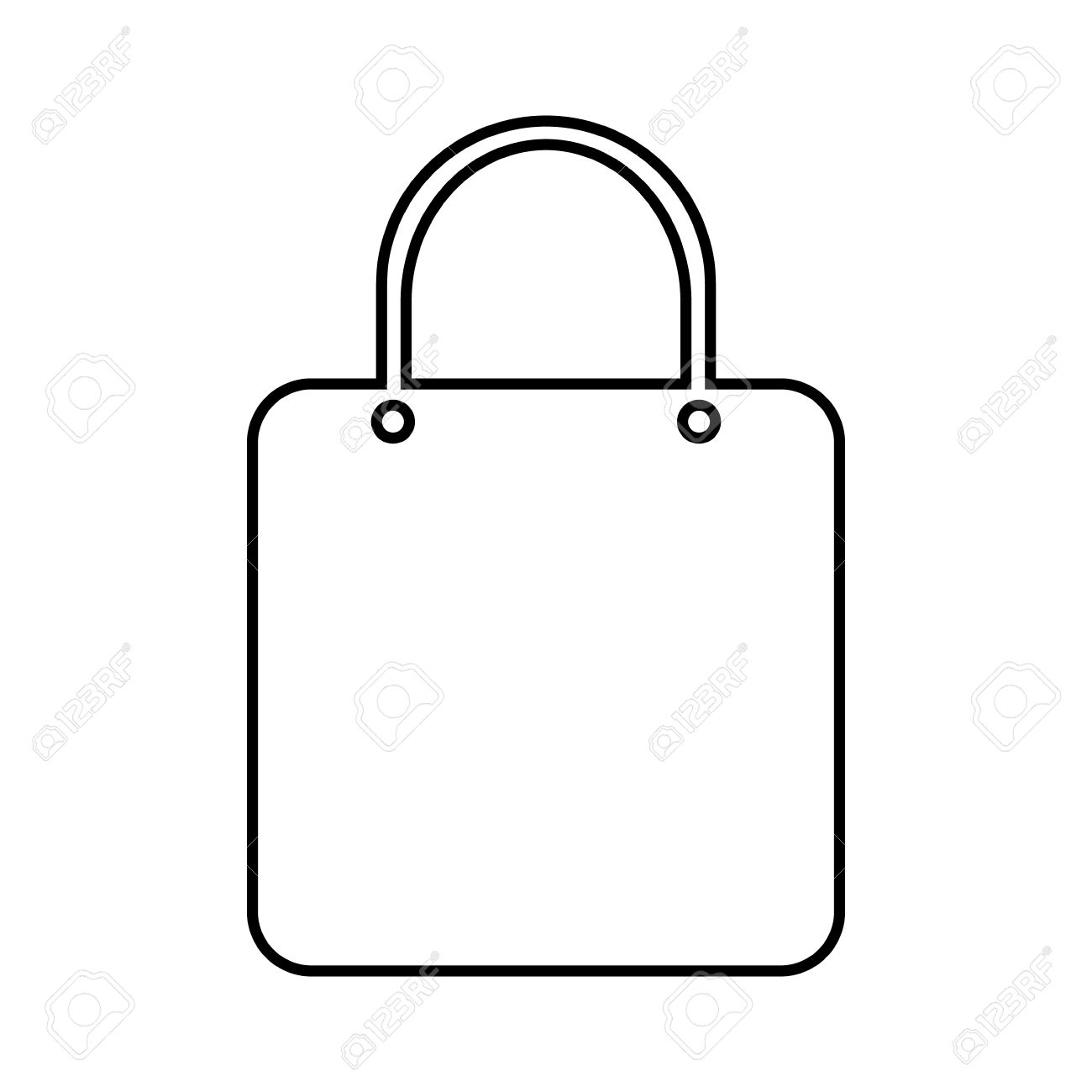 Shopping Bag Icon On White Background Royalty Free Cliparts