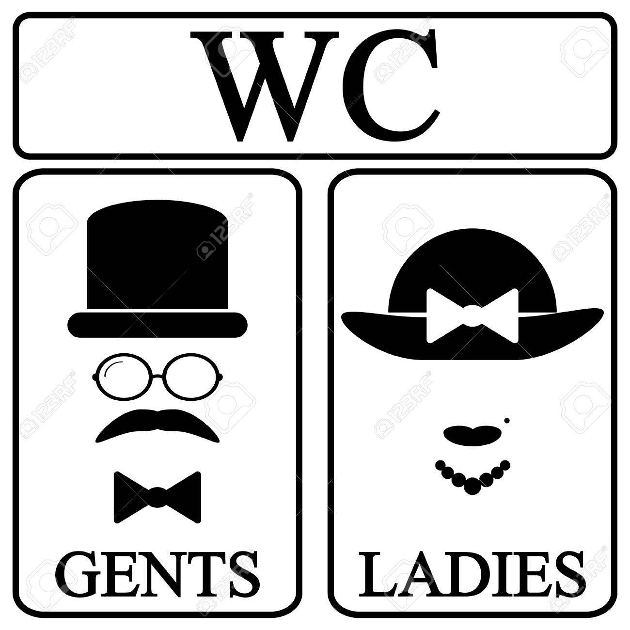 Restroom Symbols Vector Restroom Symbol Icons in