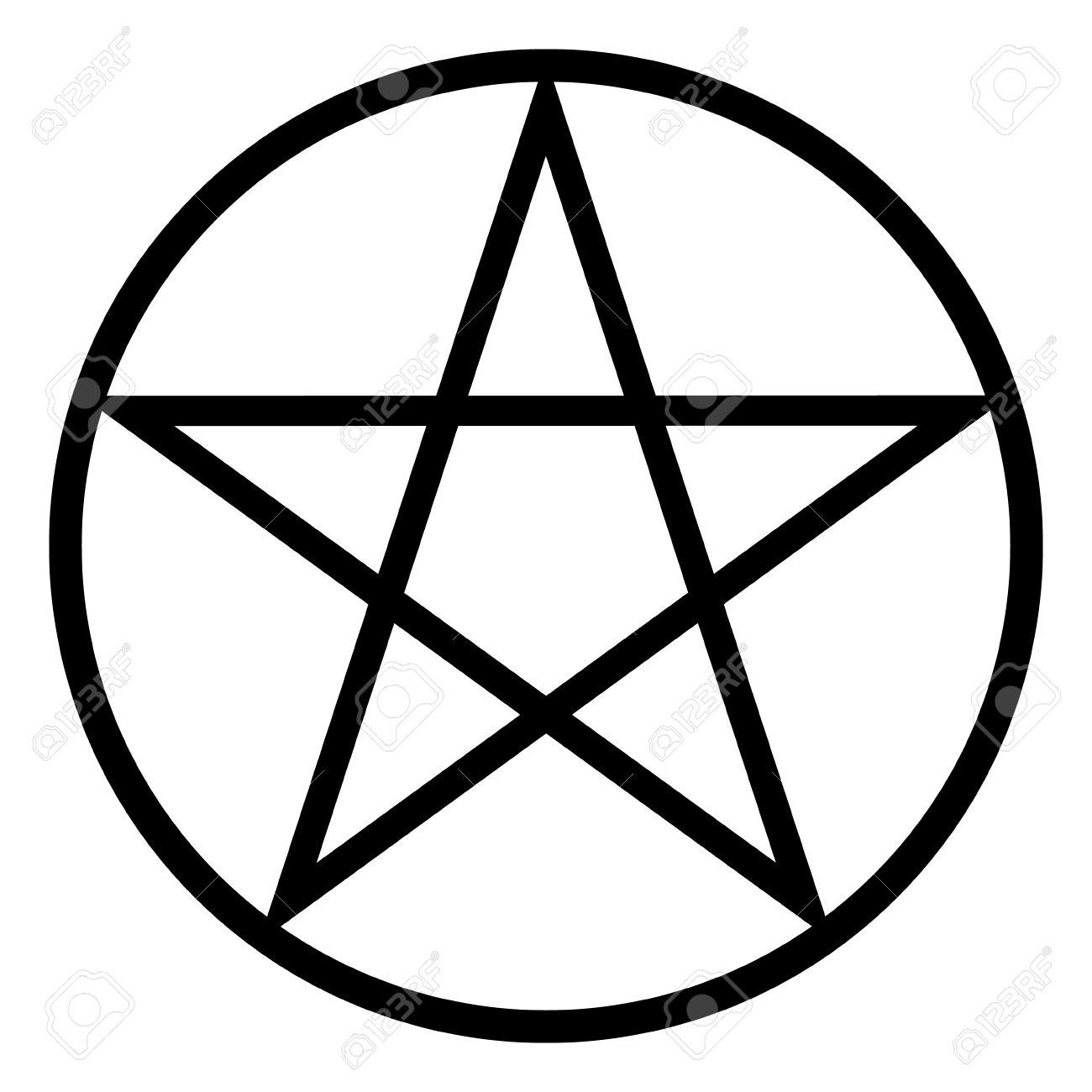 pentagram icon on white background vector illustration royalty rh 123rf com pentagram vector art pentagram vector file