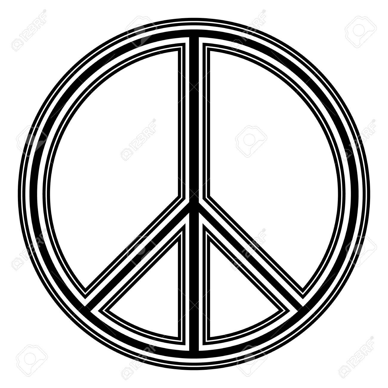 Peace symbol on white background vector illustration royalty free peace symbol on white background vector illustration stock vector 30318279 buycottarizona Choice Image